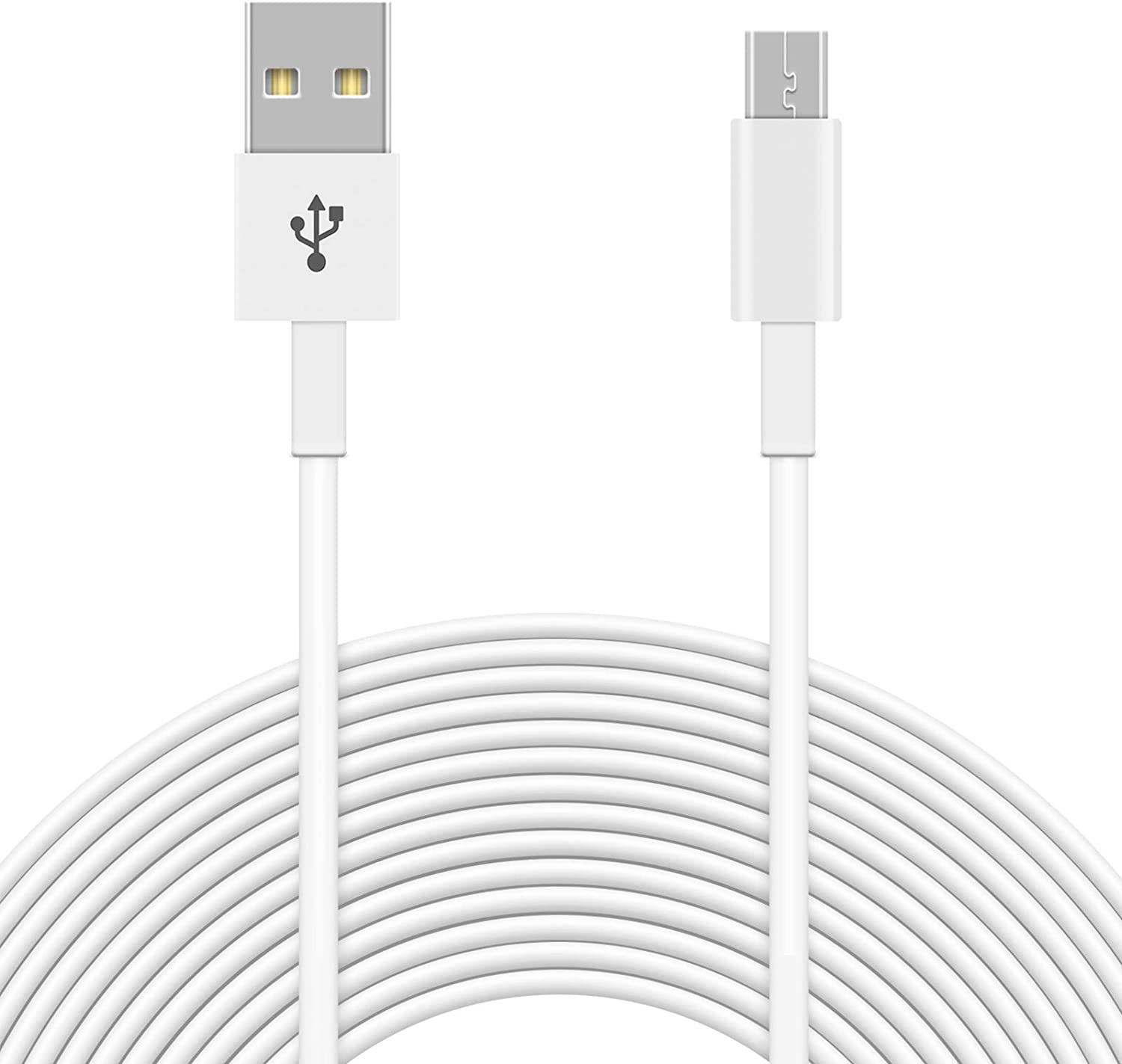 White Wyze Cam Pan 3 Pack 20FT Power Extension Cable Compatible with WyzeCam Yi Camera NestCam Indoor,Blink Cloud Camera,USB to Micro USB Durable Charging and Data Sync Cord