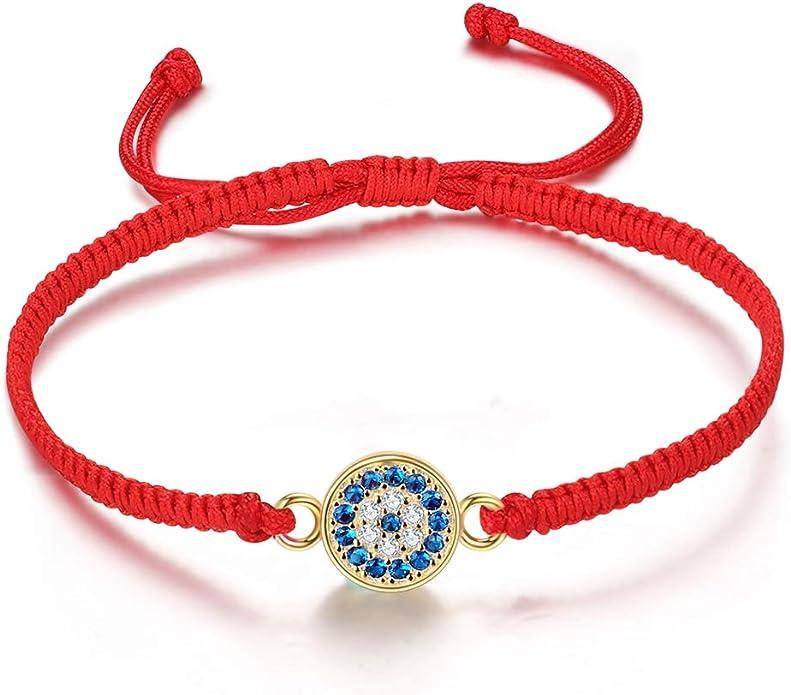 Evil Eye Bracelet Bead Chain Bracelet Protection Bracelet Black Bracelet Gold Filled Adjustable Bracelet Thin Delicate Charm Bracelet