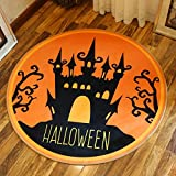 HOMEE Cartoon round carpet study cloakroom children's room carpet computer chair swivel chair basket mat,100 Cm,1
