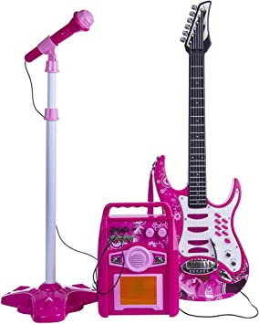 BOROK Set de Micrófono para Guitarra y Karaoke para Niños ...