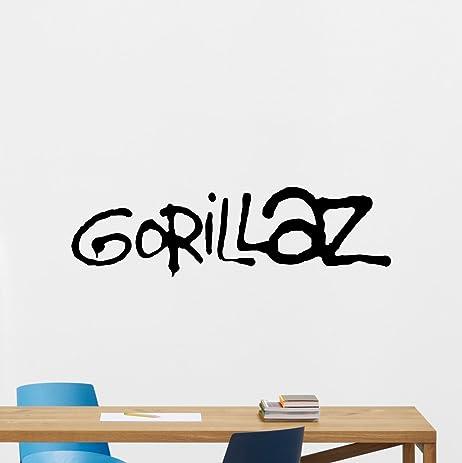 Gorillaz logo wall decal alternative music band vinyl sticker music studio decal rock wall art design