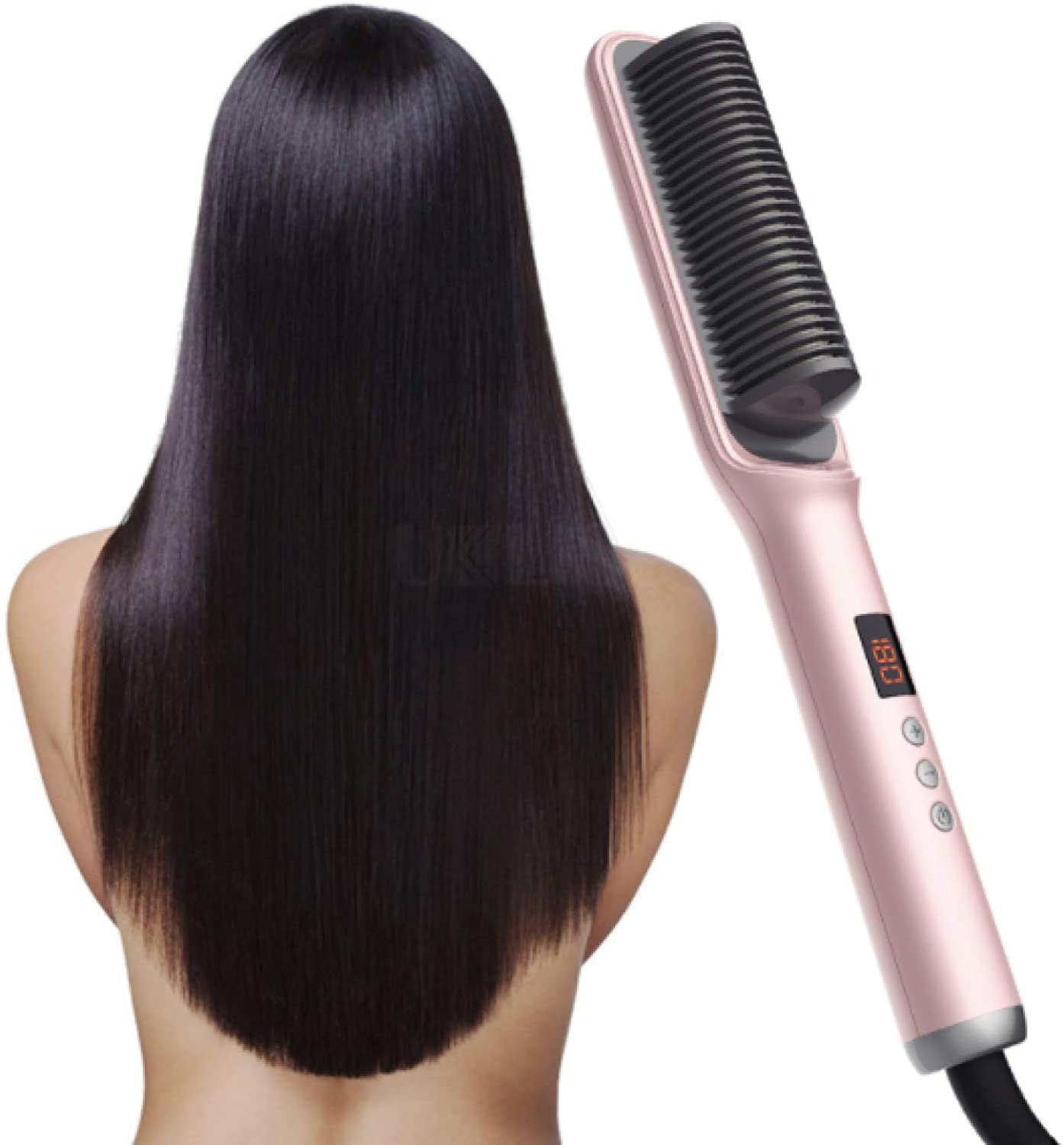 Home ceramic hair straightener for curling and straightening, Ceramic hair straightening comb,Hair straightener lazy electric curling iron ,not hurt hair negative ion Ceramic hair straightening comb