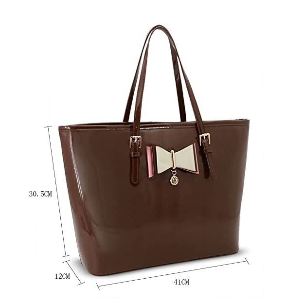 b6551fcb5171 LYDC London Large Convenient Handbags Shoulder Bag in Various Colours  Simple Designed with Adjustable Straps (Coffee)  Amazon.co.uk  Shoes   Bags