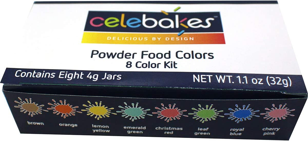 Celebakes Powdered Food Coloring 8-Color Kit