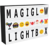 MagiGlow A4 Enhanced Cinematic Light Up Your Life Letter Box with 110 Characters/Emojis, Storage And 8hr Power Timer