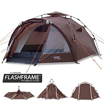 Slumit GOBI 3 Instant Tent 3 Man Waterproof Double Layer FlashFrame Quick Pitch Tent and Pack  sc 1 st  Amazon UK & Slumit GOBI 3 Instant Tent 3 Man Waterproof Double Layer FlashFrame ...