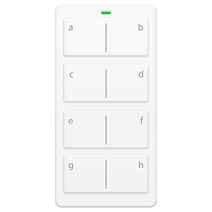 Insteon 2342-222 Mini Remote 8-Scene Keypad - Controls On/Off & Dimming,  Rechargeable Battery (White)