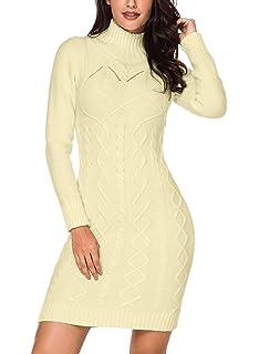 728d5a83e7d Lookbook Store Women s Asymmetric Button Collar Cable Knit Bodycon ...