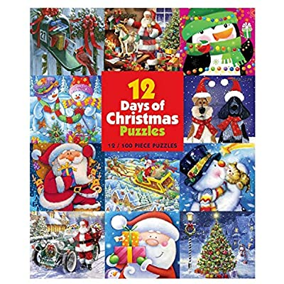 12 Days of Christmas Puzzles - (12) 100Piece: Toys & Games