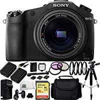 Sony DSC-RX10 II DSC-RX10M II DSC-RX10 Mark II DSCRX10M2/B Cybershot 20.2 MP Digital Still Camera with 3-Inch LCD Screen Bundle. Includes SanDisk 16GB Extreme SDHC Class 10 Memory Card (SDSDXN-016G-G46) + 2 Replacement FW-50 Batteries + AC/DC Rapid Home &