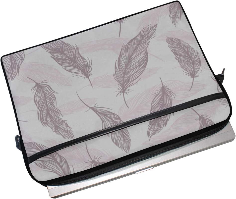 College Students Business People Office Wo Briefcase Messenger Shoulder Bag for Men Women Laptop Bag Tender Feather Sketch 15-15.4 Inch Laptop Case