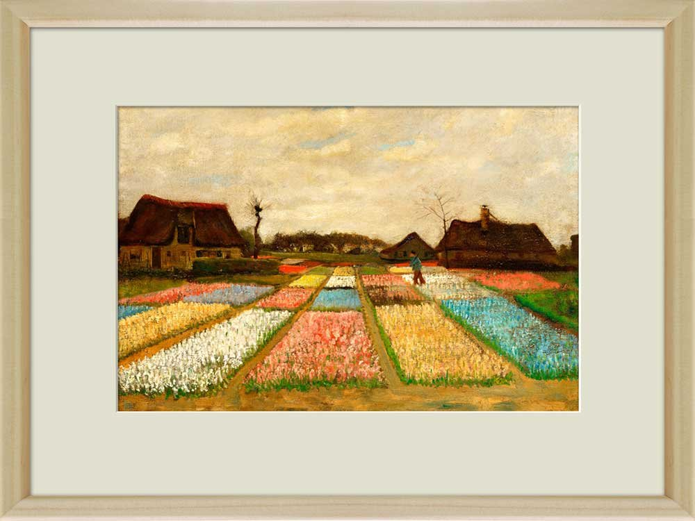 Creative 3D Visual Effect Wall Mural Flower Beds in Holland (or Bulb ...