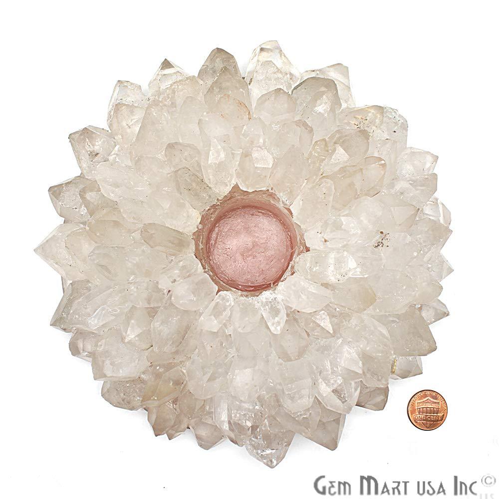 Crystal Tealight Holder, Candle Holder, Crystal Cluster, Home Decor, Point Candle Holder, GemMartUSA (CNDC-10002) by GemMartUSA (Image #1)