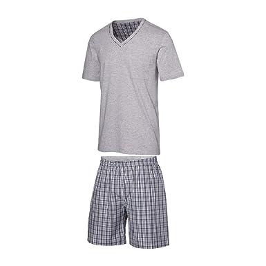 Herren Pyjama Schlafanzug Kurz Herren Pyjama Kurz Herren Shorty Schlafanzug  Reine Baumwolle (XL 56  611faefcf5