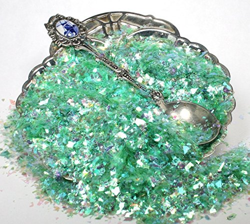 Bright Green Iridescent Ice Flitter Flakes - #311-4340