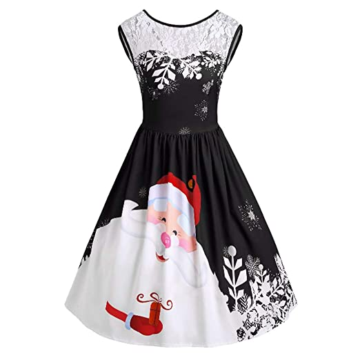 7f0f7231a1d1f Toponly Christmas Women s A-Line Pleated Sleeveless Little Cocktail ...