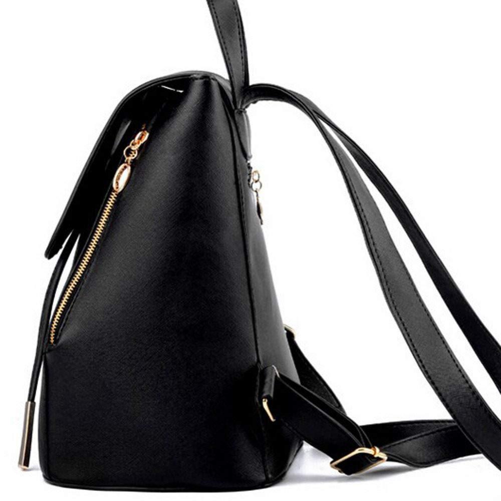 POUPDM Ryggsäck för kvinnor ryggsäck kvinnor PU-läder kvinnor ryggsäckar tonåring skola ryggsäck Som bilden visar