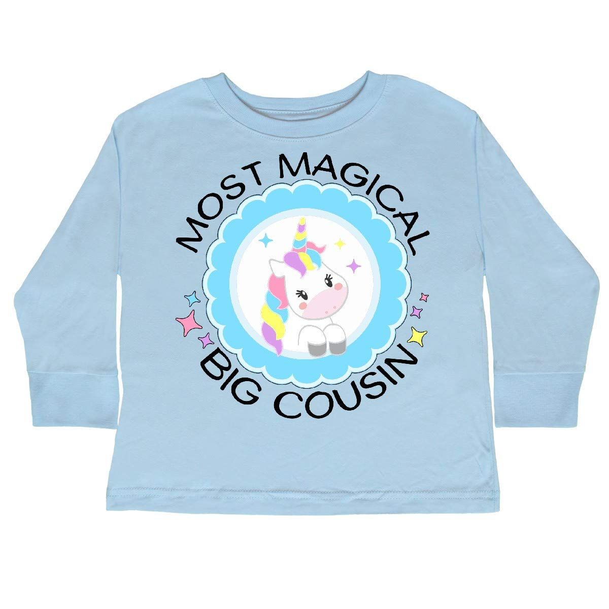 Cute Toddler Long Sleeve T-Shirt inktastic Most Magical Big Cousin Badge