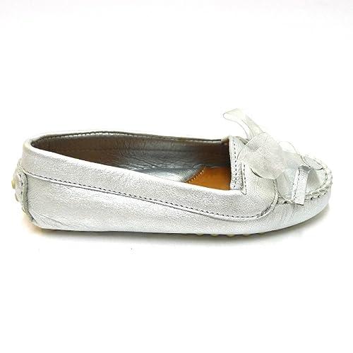 Oca Loca Zapatos Niña Mocasines Naúticos 4341 Plata: Amazon.es: Zapatos y complementos