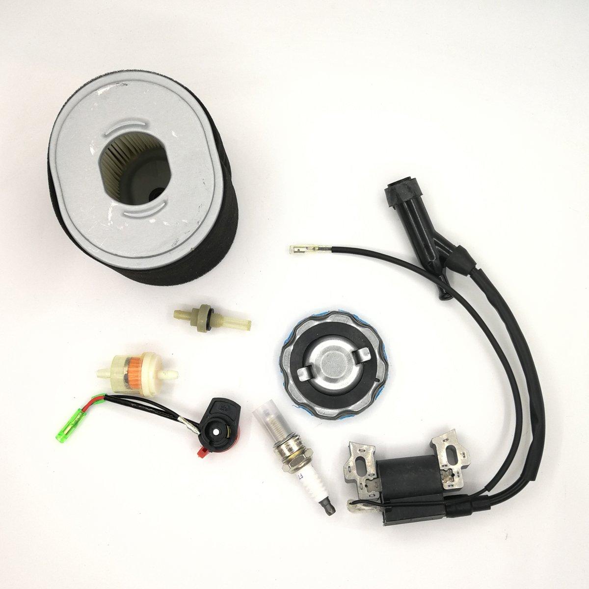 Shioshen Ignition Coil Magneto Luftfilter Gas Fuel Cap Filter Service-Kit f/ür Honda GX340 GX390 188F 190F Motor Generator Rasenm/äher