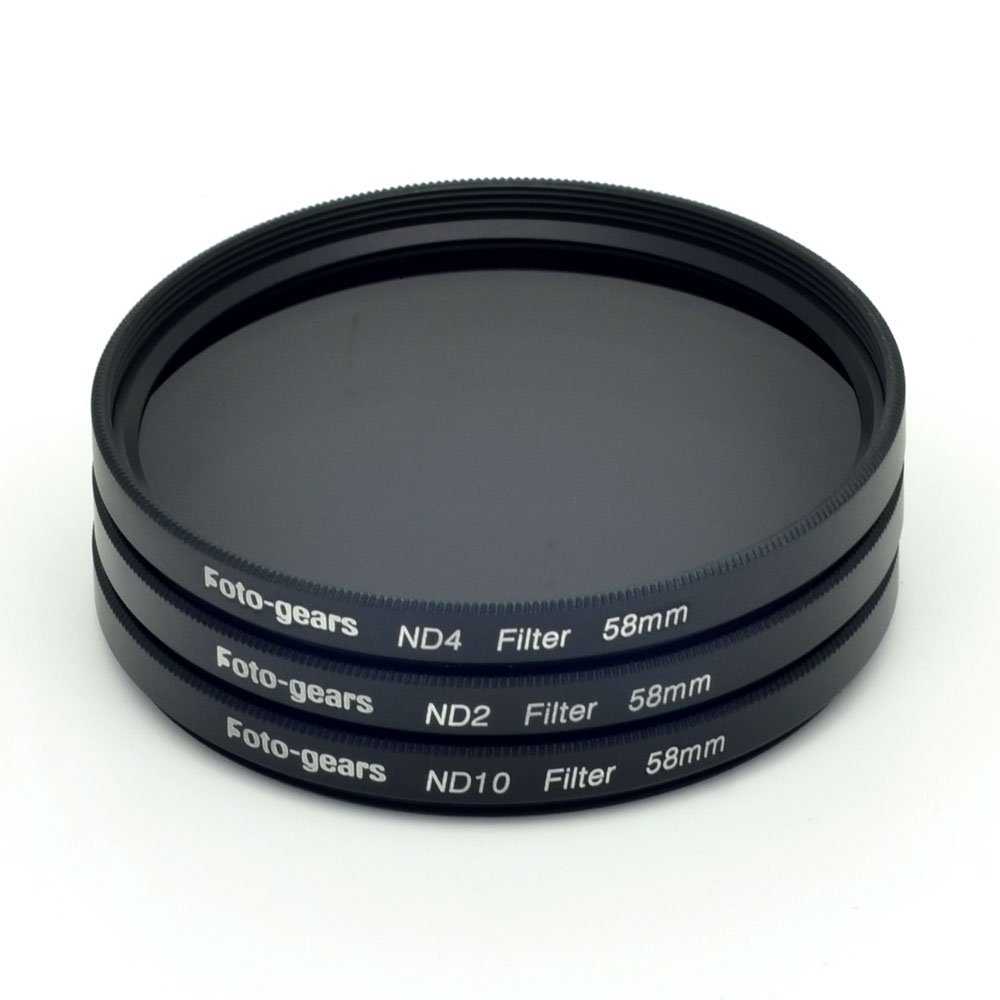 58mm Neutral Density Professional Photography ND Filter Set (ND2 ND4 ND10)