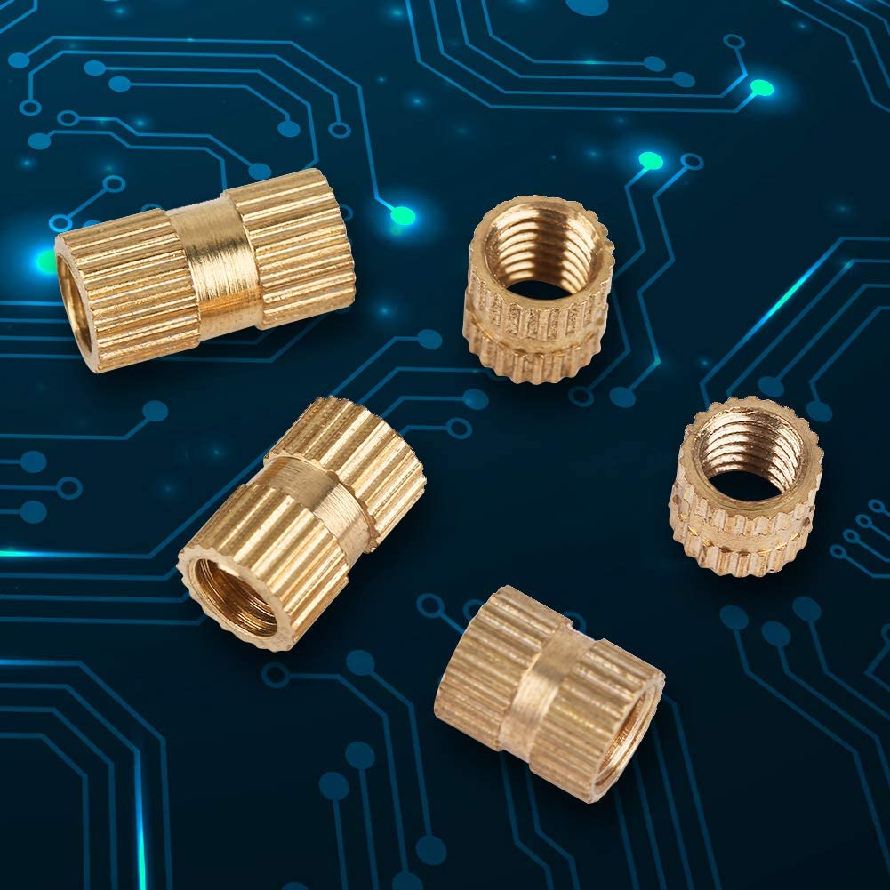 M5 Nutt Resistant to Wear Long Service Life Brass Knurled Nut High Hardness for Home Worker