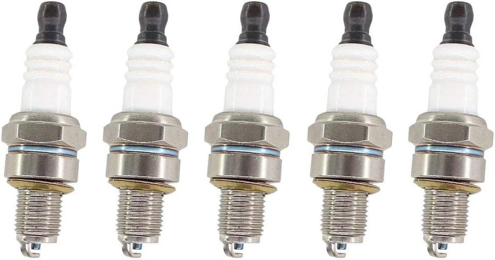 AISEN (Pack of 5 Spark Plug for STIHL FS90 FS100 FS110 FS130 BR500 BR550 BR600