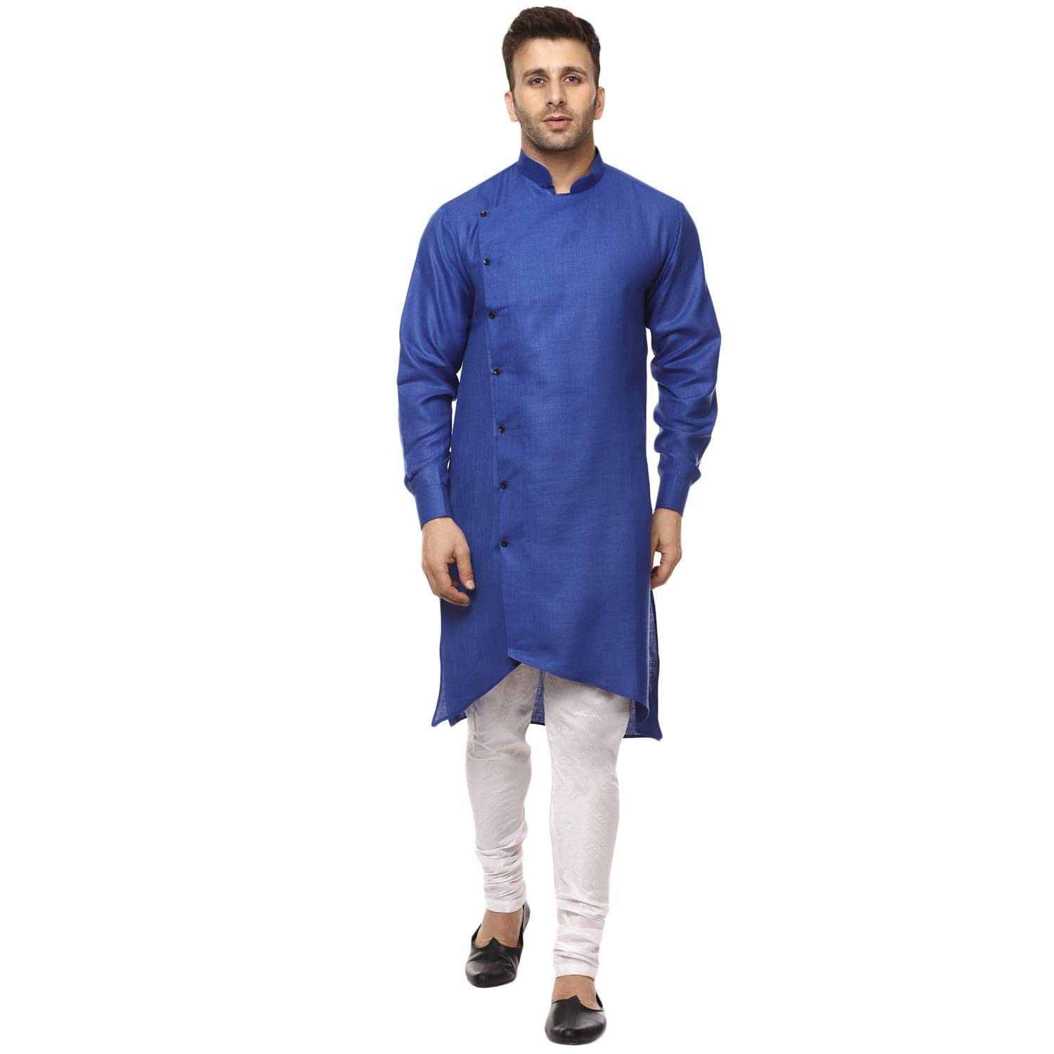 Royal Kurta Mens Cotton Angarakha Kurta Pyjama Set