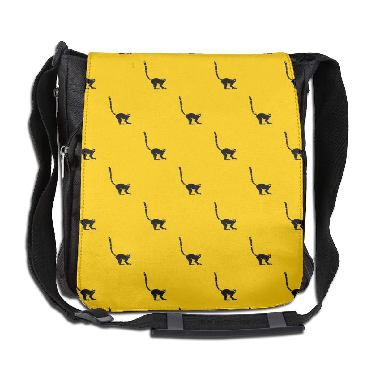 Lemur Monkey Men Women Inspirational Satchel Messenger Bags Crossbody Sling Working Bag Travel Shoulder Bags Office//School