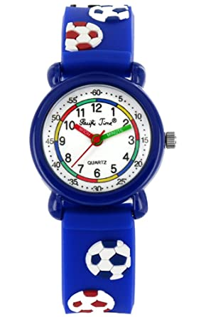 Armbanduhr kinder  Pacific Time Kinder-Armbanduhr Fussball Armbanduhr Kinder Jungen ...