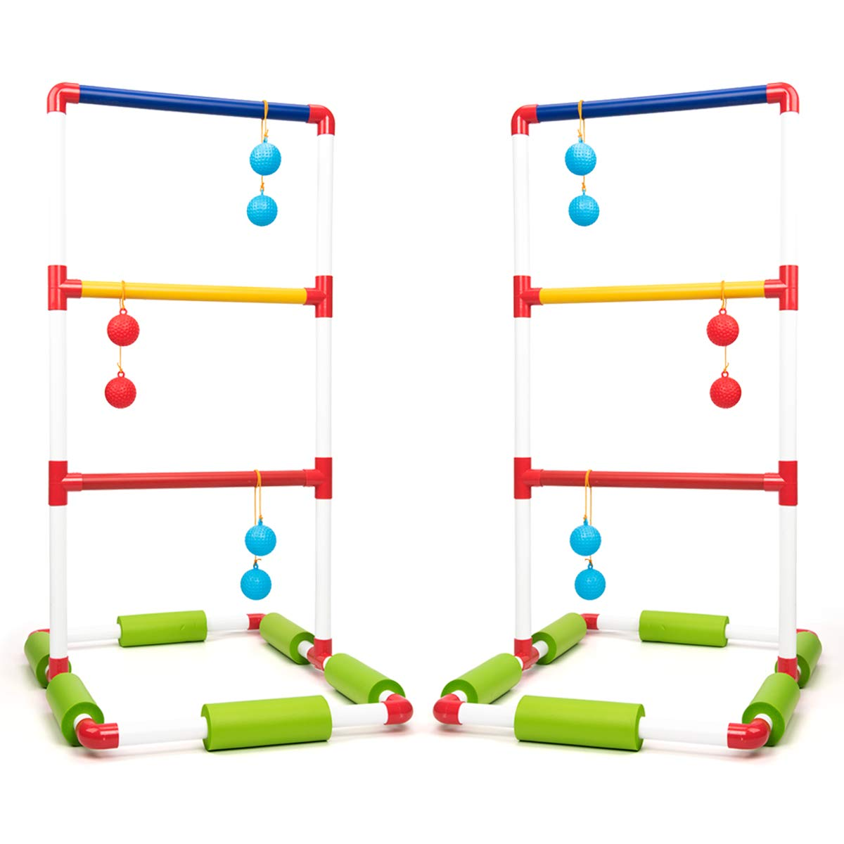 ROPODA Floating Ladder Ball toss Game Set-Fun Pool Toys with 6 Floating Game Balls,2 PVC Ladder Set and Carrying case for Kids and Adults Play by ROPODA