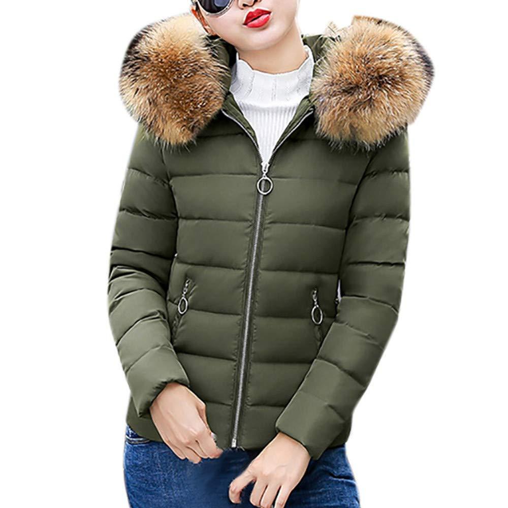 Seaintheson Women's Coats OUTERWEAR レディース B07HRCR386 Large|アーミーグリーン アーミーグリーン Large