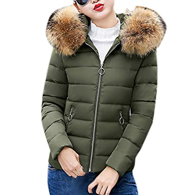 big sale 7068d 84a2f Warme Winterjacke Damen Mantel MYMYG Baumwolle Jacke ...