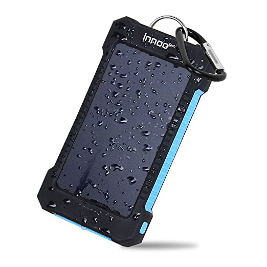 23 opinioni per InnooTech 10000mAh Caricabetterie Solare con Doppie Porte USB Caricabatterie