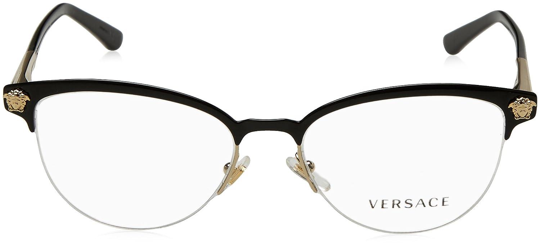 075d8d15d25ca Amazon.com  Versace Womens VE1235 1371 Black Metal Phantos Eyeglasses   Clothing