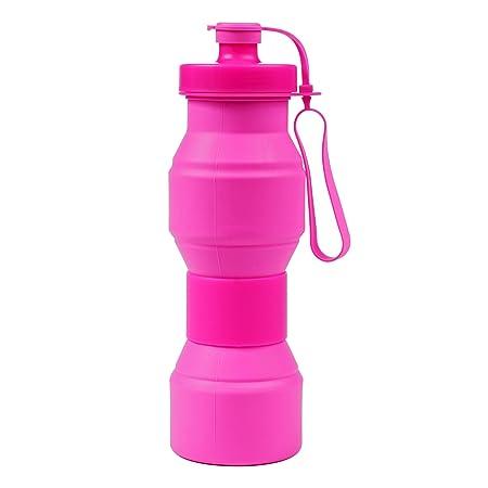 Botella Plegable, STXMALL Botella Agua de Silicona de Grado ...