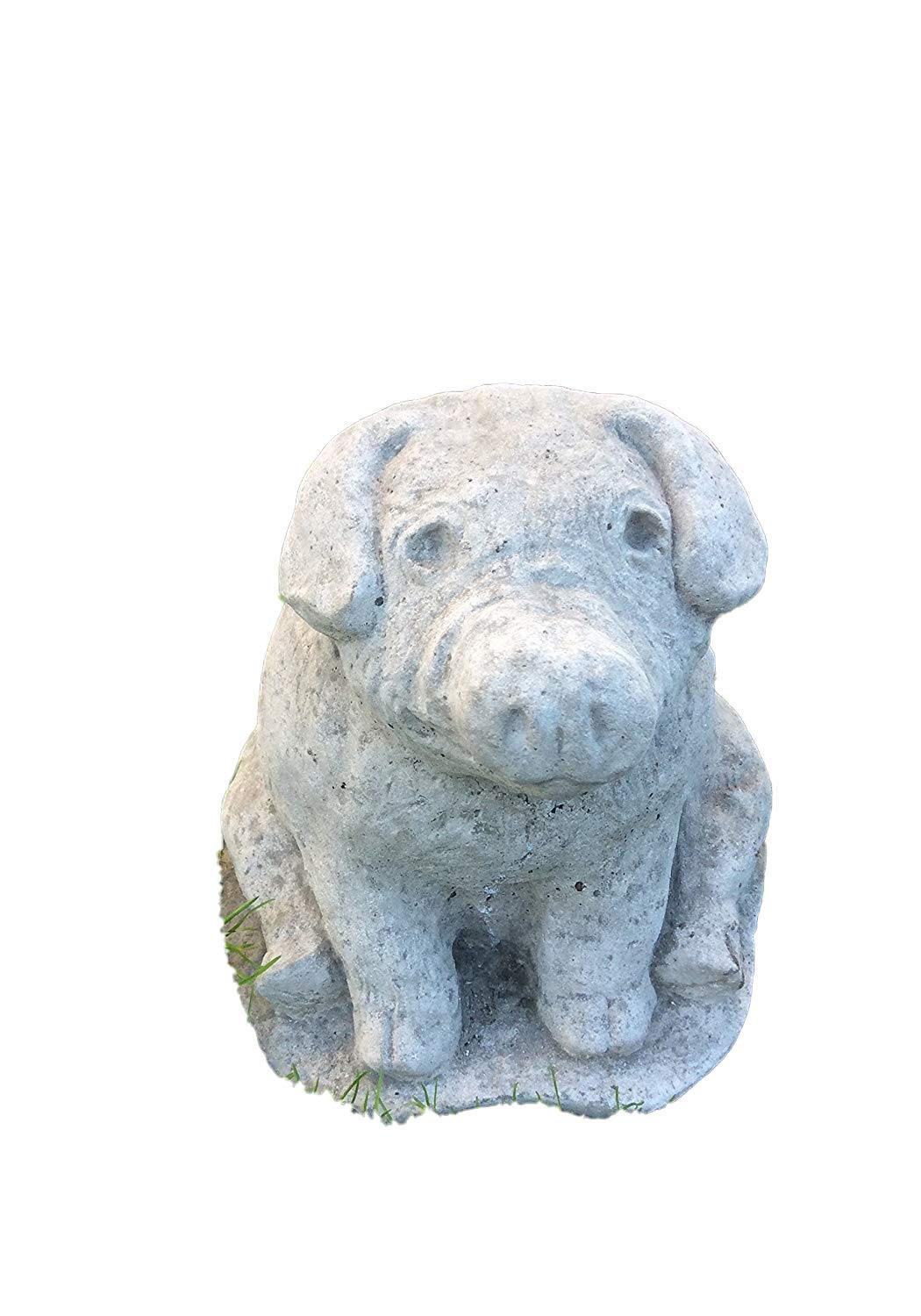 Piglets in Basket Garden Statue Made from Reconstituted Stone.