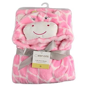 86c4eef81092 Amazon.com   Missbleu Animal Soft Infant Baby Hooded Blanket Baby ...