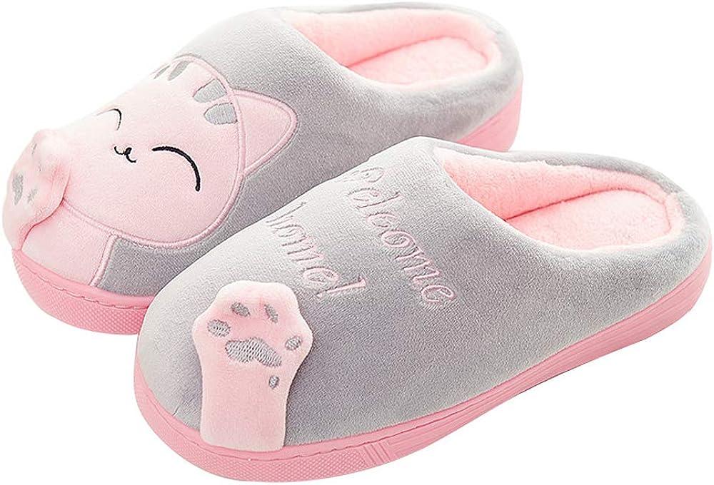 QZBAOSHU Pantofole per Donna Bambini Inverno Comfort Memory Gomma / Gatto Gattino Cartoon Pantofole Indoor