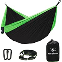 PYS Double Camping Hammock for Backpacking (Black/Green)