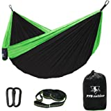 pys Camping Hammock Parachute Nylon Hammock with Tree Straps with Max 1000 lbs Breaking Capacity,Lightweight Carabiners Included For Backpacking or Hiking