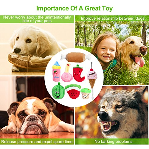 UEETEK-Pack-of-8-Squeaky-Dog-Toys-Pet-Plush-Chew-Toys-for-Puppies-Small-Dogs