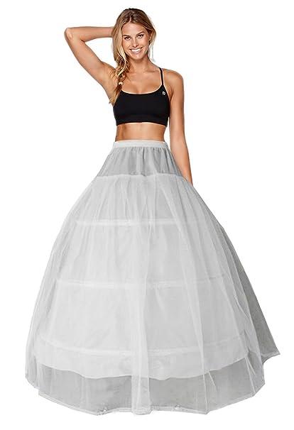 Enagua Aros Enaguas Enteras Crinolina para Mujer 3 aro 1 Capa Faldas Vestidos Underskirt Cancan Enagua
