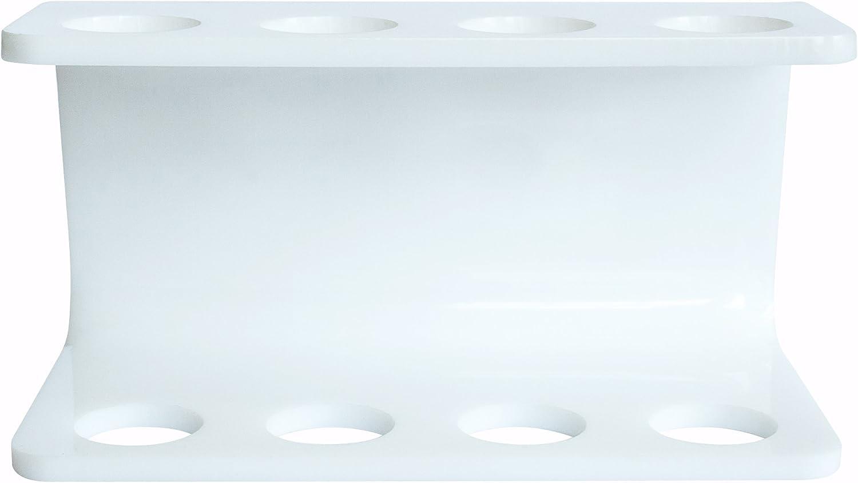 compatible avec Oral-B T/êtes 2 Head Holder Plastique blanc seemii Support Brosse /à Dents /Électrique T/ête blanc ou transparent