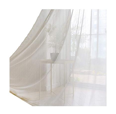 1679d4f49e6 ASide BSide Rod Pocket Top Interval Stripes Sheer Curtains Transparent  Window Decoration Leisure Style For Bedroom
