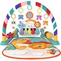 Eners Baby Gyms Play Mats Musical Activity Center Kick & Play Piano Gym Tummy Time Padded Mat for Newborn Toddler…