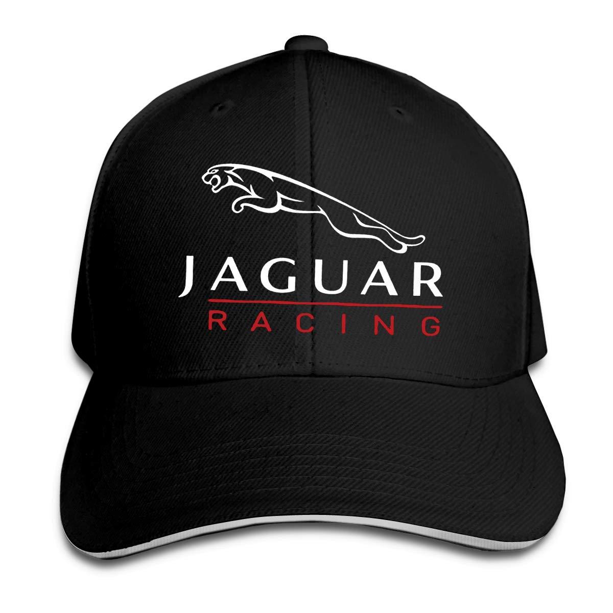 Jaguar Car Racing Brand Logo Visor Hat Vintage Sandwich Cap Caps