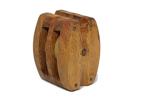 Polea de Barco de Madera Medida para Decoración del hogar, Gran Calidad de Coleccionista,