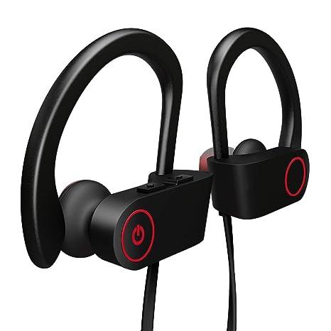 Auriculares Bluetooth, XHJ Auriculares inalámbricos Deportivos Casco Mini Inalámbrico Estéreo con Micrófono Incorporado para iPhone