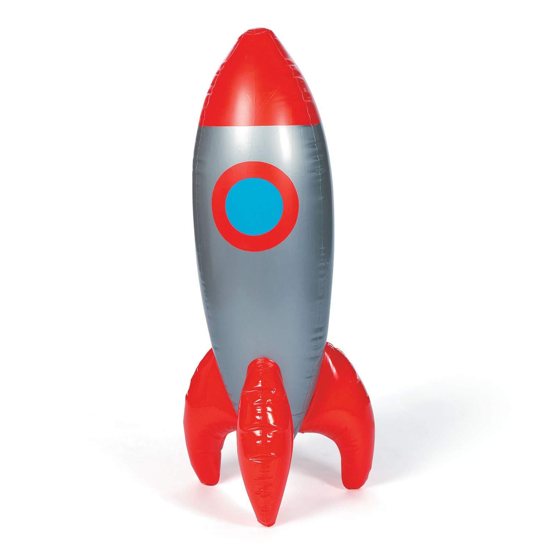 cama24com Rakete aufblasbar Weltraum Space Raumschiff 100cm gro/ß Partydekoration mit Palandi/® Sticker